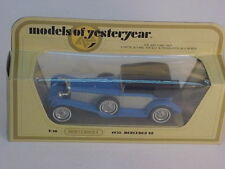 1978 MATCHBOX LESNEY MODELS OF YESTERYEAR 1:45 Y-16 BLUE 1928 MERCEDES SS MIB