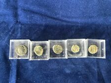 More details for 5 roman coins in magnifying boxes - perfect gift for budding numismatist