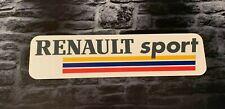 Enseigne Plaque Décorative Garage Auto RENAULT SPORT ( 60 cm x 15 cm)