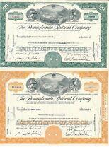 2 x The Pennsylvania Railroad Company, Historische Eisenbahnaktie, 1960er Jahre