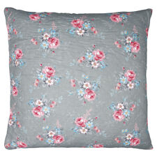 GreenGate Marie Grey Quilted Cushion - 50cm x 50cm