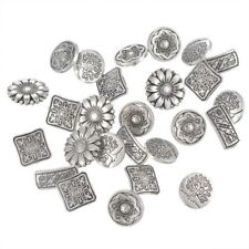 Wholesale Lots W09 Mixed Round Metal Buttons Flower Sewing Scrapbooking GW