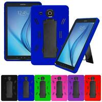 Shockproof Combo Protective Kickstand Box Case For Samsung Galaxy Tab E Tablet