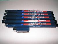 5x Edding 1800 0.1 Profipen ca. 0,25mm schwarz Faserzeichner Tuscheschreiber NEU