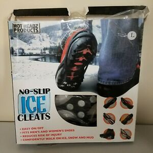 Hot Headz No Slip Ice Grips Cleats For Kids Size Small Snow Spikes