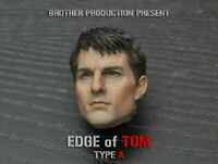 """Tom Cruise 1/6 Male Head Sculpt Carving Brother Production TOM For 12"""" Figure"""