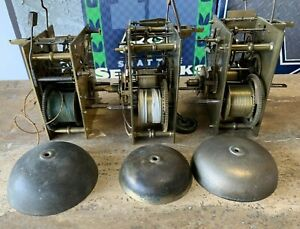 ANTIQUE ENGLISH CLOCK MOVEMENTS Early to mid 1800's x 3 Solid Brass