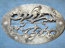Stunning Victorian Sterling Silver Stunning Scarf  Pin Brooch Floral Pierced