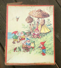 Gnomes and Mushrooms, Vintage Kolibri Wooden Jigsaw Puzzle, 24 Pieces