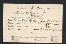 """ORLEANS (45) USINE de SACS en PAPIER & BOITES PLIANTES """"E. JUTTEAU"""" en 1932"""