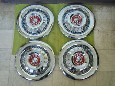 "NICE Take Offs 55 56 Ford Wire Spoke HUB CAPS 15"" Hubcaps 1955 1956 Wheel Covers"