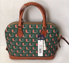 4637ecc7083 Dooney & Bourke MIAMI HURRICANES Zip Zip Satchel TEAM COLORS-Retail-$248 NWT
