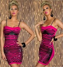 Kleid Minikleid Abendkleid Shape-Up Bodycon Cocktailkleid Dress Pink Schwarz M