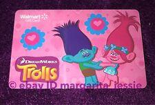 "WALMART US DREAMWORKS TROLLS ""PRINCESS POPPY & BRANCH"" GIFT CARD NO VALUE NEW"