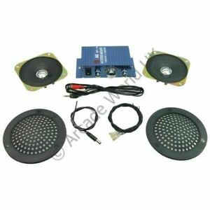 Hi-Fi Stereo Sound Amplifier Kit With Plastic Speaker Covers