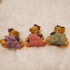 "Cherished Teddies ""Buttons & Bows"" Mini Figurines 842672"