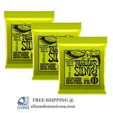 Ernie Ball  2221 Regular Slinky Electric Guitar Strings 3 Pack UPC 749699122210