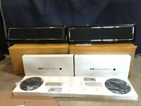 Pair Bowers Wilkins B&W VM6 Surround Sound Home Theater Speakers Mint w/ Stand