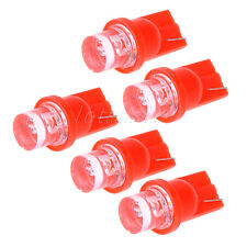 5pcs Ultra Red T10 LED Bulb For Car Gauge Cluster Lights