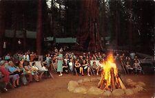 Kings Canyon National Park, CA ~ Bonfire Camp Fire ~ Sequoia  ~ VTG Postcard