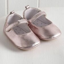 Pink Shiny Leather Baby Ballet Pumps UK 3-6 Months EU 17 LG079 AA 01