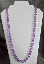 Sarah Coventry Lavender Krackle Bead Necklace