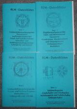 Luftwaffe 4 Hefte Dienstvorschrift RLM-Datenblätter Instrumente 2.WK