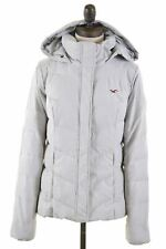 HOLLISTER Womens Padded Jacket Size 14 Medium Grey Polyester  X301
