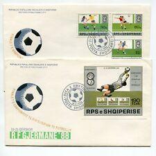 Albania 1988 Europe Soccer Sport Set & Imperf Sheet 2 Cachet Fdcs