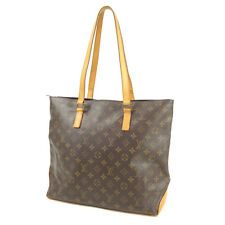Authentic Louis Vuitton Monogram Cabas Mezzo Tote Bag M51151 Used F/S