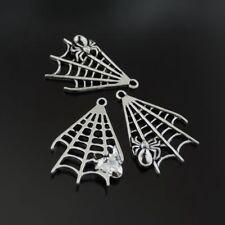 39477 Antike Silber Spinnennetz Spinne Legierung Anhänger Charme Schmuck 20 Stk