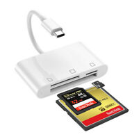 3 in 1 USB C Multi-Card Reader Compact Flash CF Card Reader for MacBook Pro