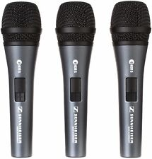 Sennheiser e835-S Microphone Dynamic Cardioid Vocal Mic On/Off Switch 3-Pack