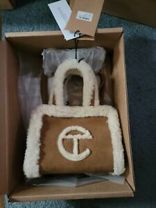 New UGG x Telfar Shopping Bag Small Chestnut Shearling In Hand FAST SHIP SALE