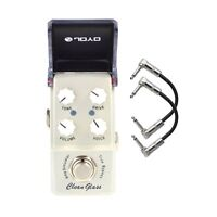Joyo JF-307 Clean Glass Amp Sim Ironman Mini Guitar Effects Pedal + Patch Cables