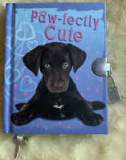 NEW Girls Hard Cover Diary With Lock 2 Keys  Puppy Paw-fectly Cute Scholastic
