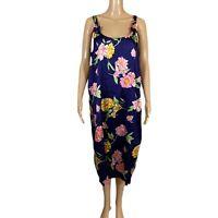 VTG SANTE CLASSICS Sun Dress Nightgown Slip Dress Floral Print Blue Pink