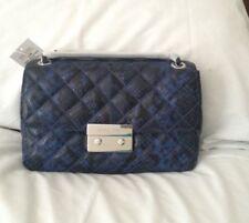 NWT Michael Kors Sloan Embossed Large Quilted-Leather Shoulder Crossbody Handbag