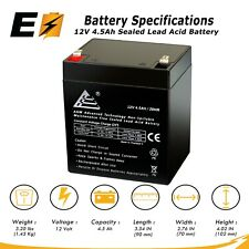 12V 4.5Ah Scooter Battery Replaces 4.5Ah Enduring 6FM4.5, 6 FM 4.5