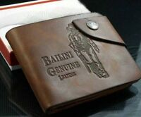 Luxury High Quality Mens Leather Brown Bifold Wallet Credit Card Holder Gift