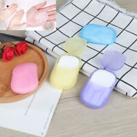 Travel Soap Scented Slice Sheets 20pcs Outdoor Paper Washing Hand Bath Clean SN