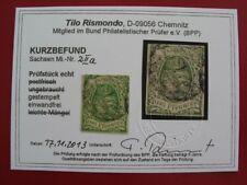 AD Sachsen 1851 MiNr 2 II a gestempelt, Kurzbefund Rismondo BPP, M€ 120,- (Q113)