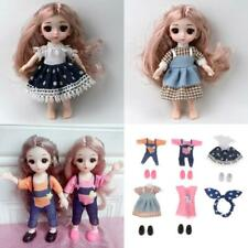 16cm Girl Doll Dress Clothes Shoes OB11 Matching Kids Gifts Accessories C