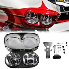 Dual LED Projector Headlight Daymaker Lamp For Harley Road Glide FLTR 2004-2013