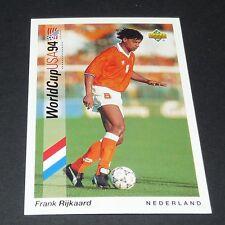 FRANK RIJKAARD MILAN AC NEDERLAND FOOTBALL CARD UPPER DECK USA 94 PANINI 1994