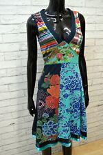 DESIGUAL Donna Vestito Taglia S Maglia Abito Floreale Tubino Dress Women's