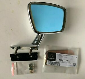 Chrom Aussenspiegel Rückspiegel rechts chrome outside mirror Mercedes W114 W115