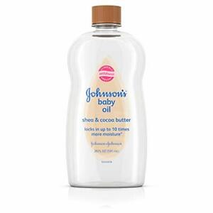 Baby Oil Mineral Oil Enriched With Shea & Cocoa Butter  Hypoallergenic 20 fl. oz