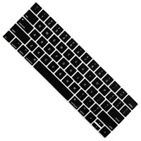 "Soft Keyboard Cover Protector Skin for Macbook Pro 13"" 15inch Touch Bar , Black"