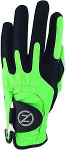 Zero Friction Men's Compression-Fit Left Hand Golf Glove Green/Black